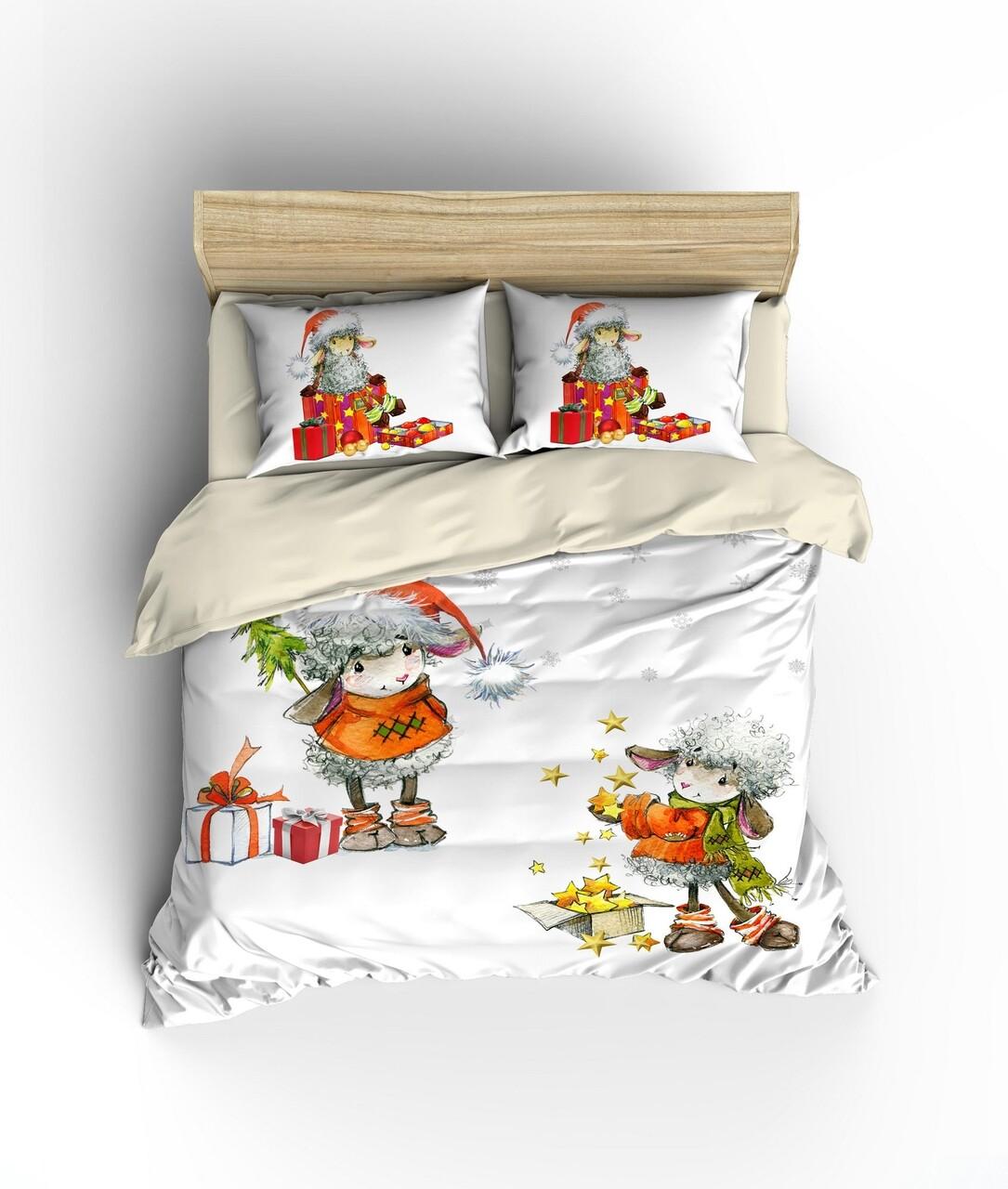 Lenjerie de pat, 2 persoane King Size, Colors of Fashion, print 3D, 331, Bumbac Ranforce, 3 piese