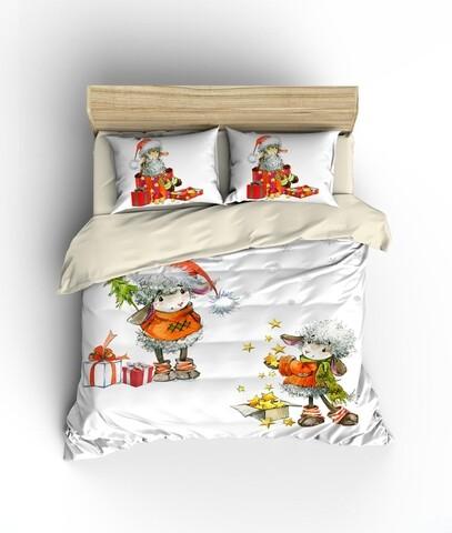 Lenjerie de pat pentru doua persoane King Size, Colors of Fashion, print 3D, 331, Bumbac Ranforce, 3 piese