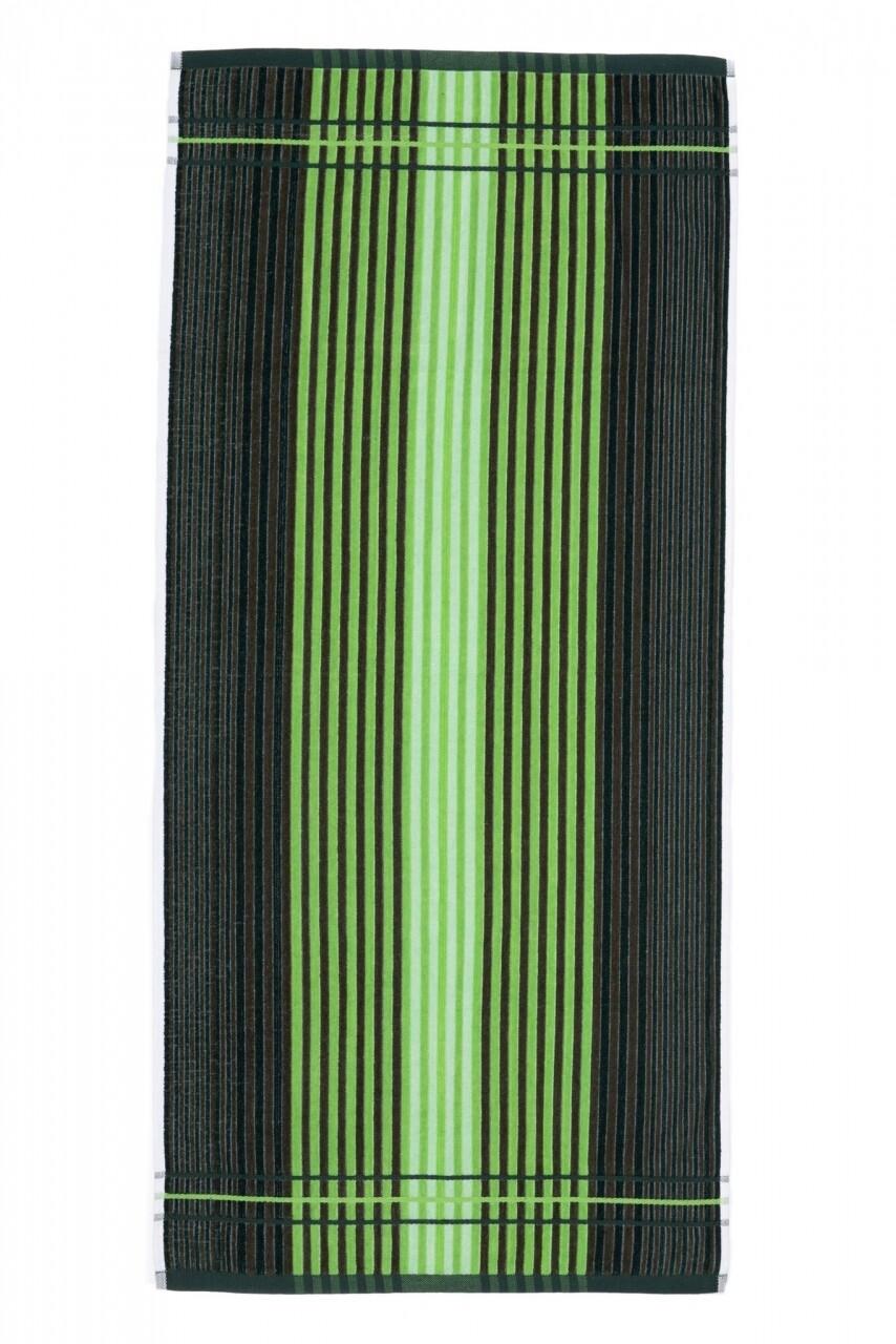Prosop de plaja Lines, Heinner, 70 x 140 cm, 80% bumbac/ 20% poliester, verde