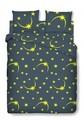 Lenjerie de pat dubla Stars, Bedora, 4 piese, 200x220, 100% bumbac, multicolor