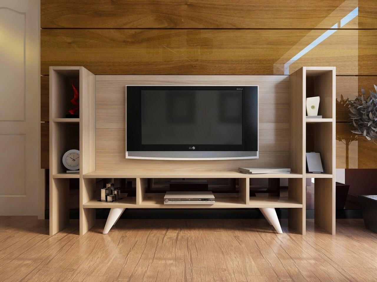 Comoda TV HAN2, Gauge Concept, 154x30x92 cm, PAL, alb