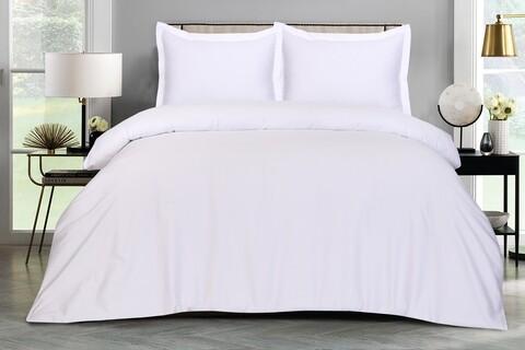 Lenjerie de pat dubla, Hotel Line Luxury  Bedora, 400 TC, 100% bumbac, alb