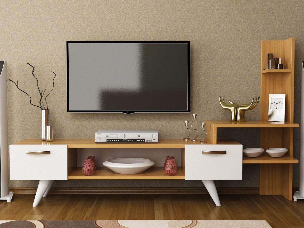 Comoda TV SENSING, Gauge Concept, 150x33x90 cm, PAL, tec/alb
