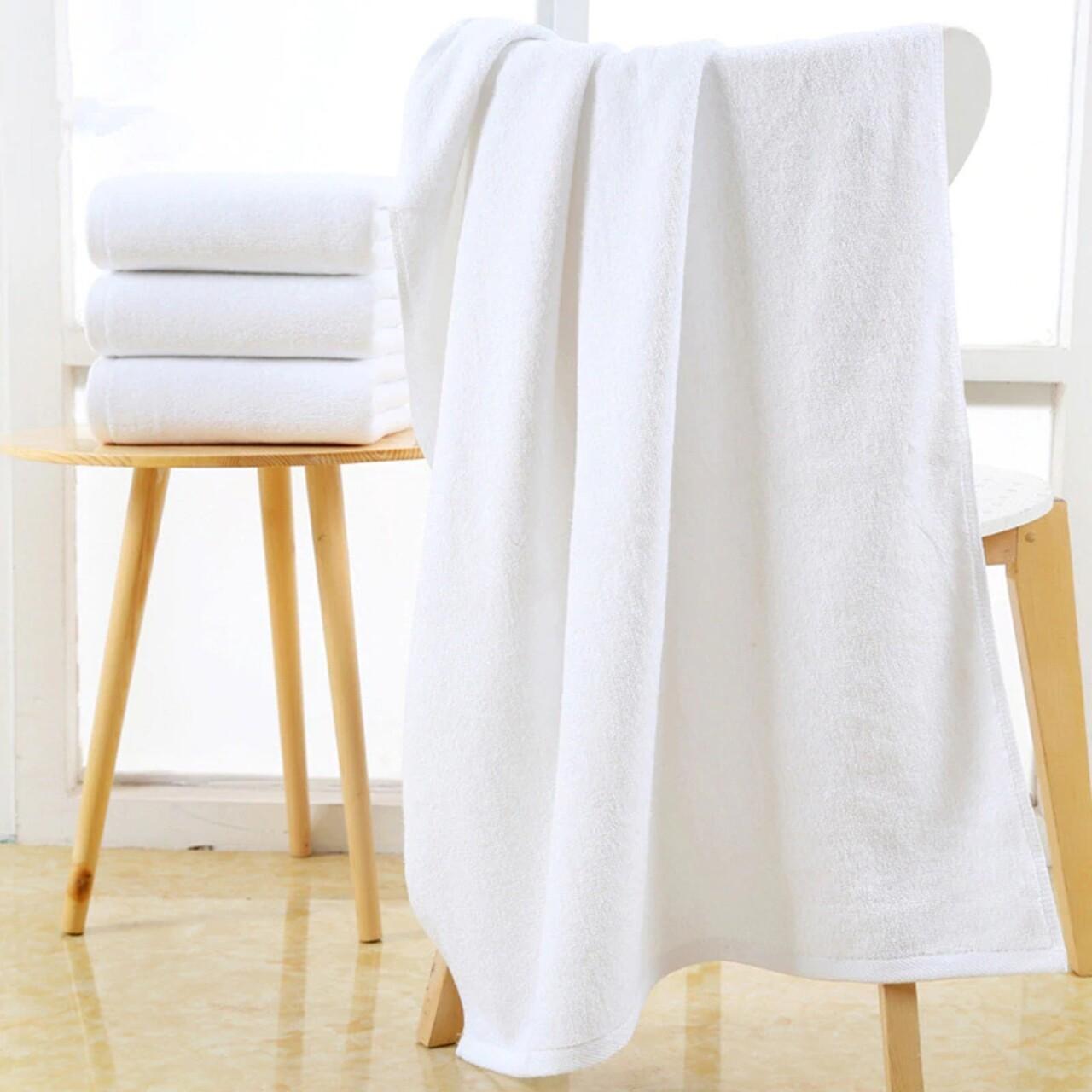 Prosop pentru SPA, Boutique, 100 x 200 cm, 100% bumbac cardat, 400 gr/mp, alb
