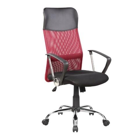 Scaun de birou ergonomic Bedora Lotte, Mesh, Negru/Rosu
