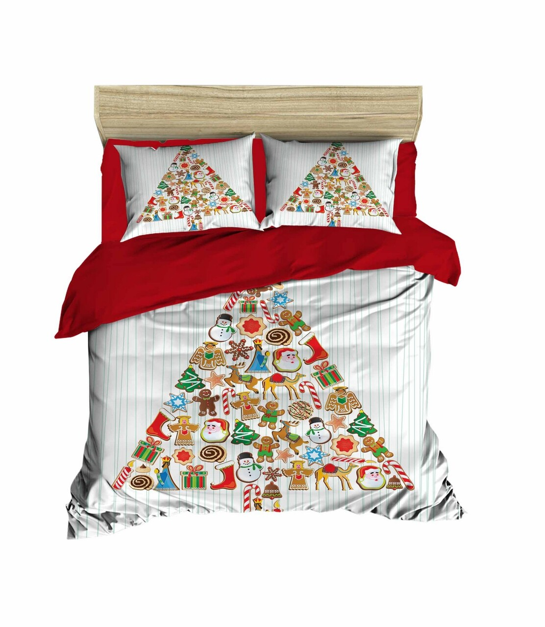Lenjerie de pat pentru doua persoane, Pearl Home, 446, print 3D, policoton, 4 piese