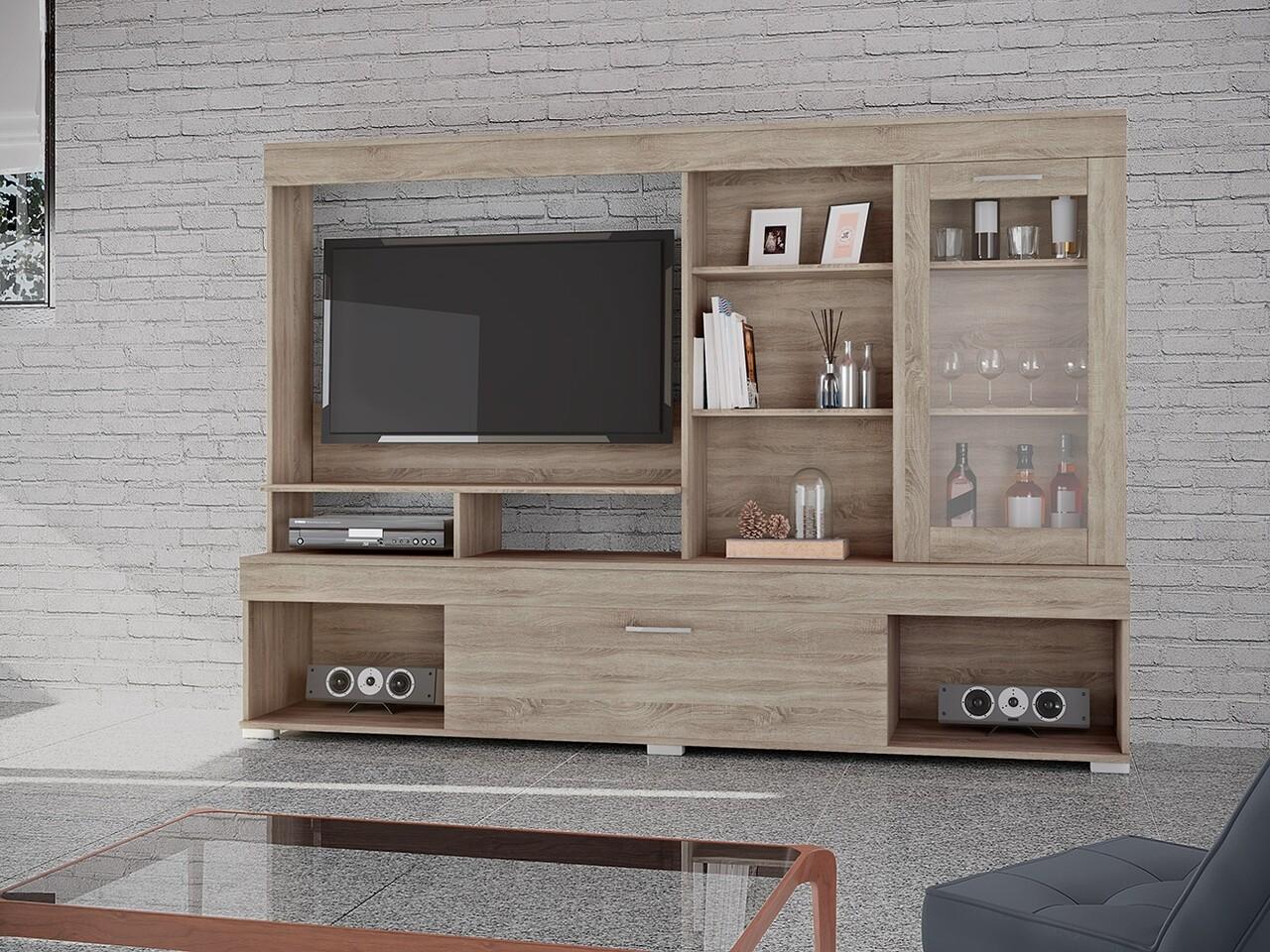 Mobilier living, Bedora, City 6033, 200 x 40.5 x 141 cm, PAL, sonoma