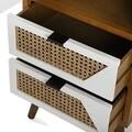Comoda cu 1 usa si 2 sertare Martine, Versa, 35x40x121.5 cm, lemn