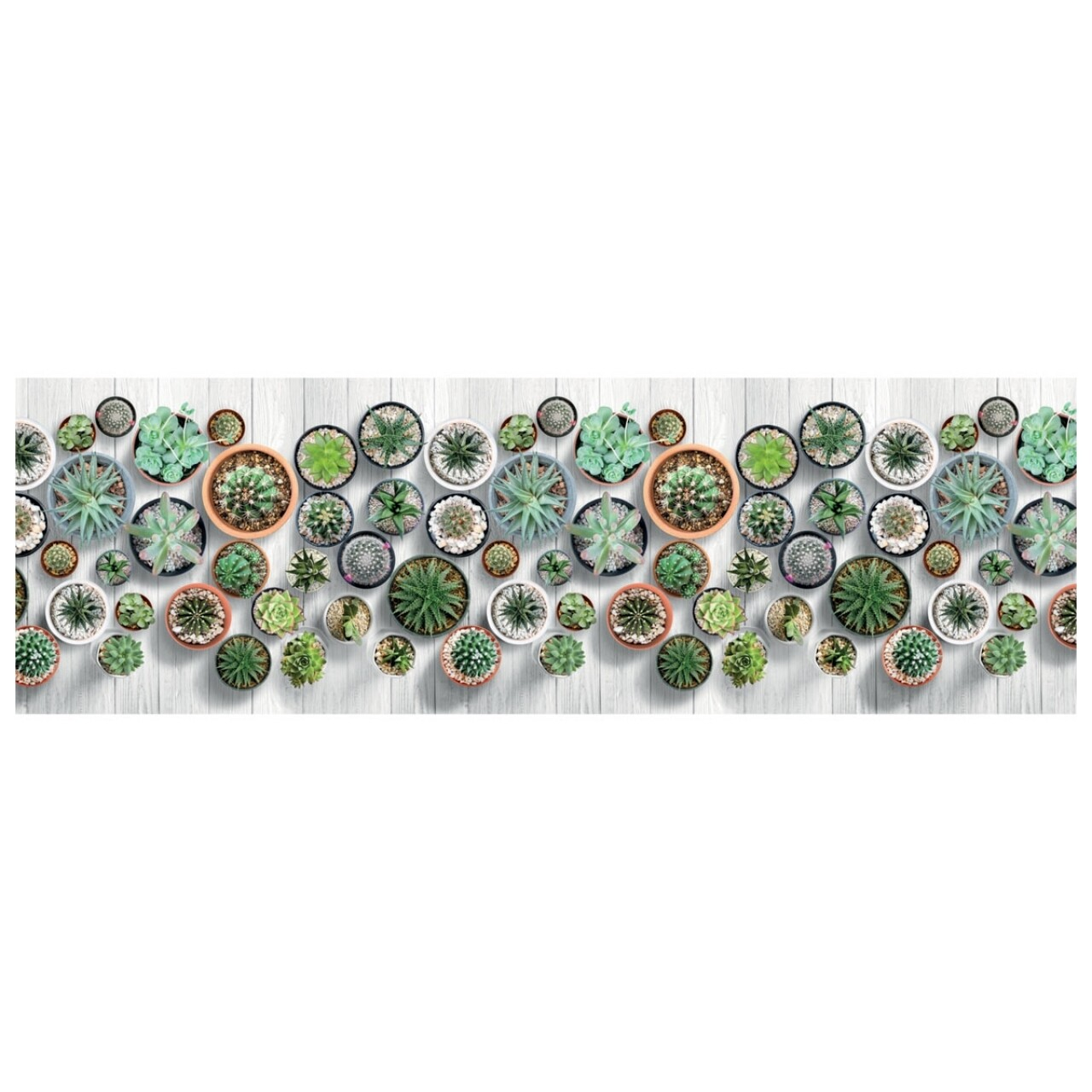 Covor rezistent Webtappeti Cactus 58 x 115 cm, multicolor