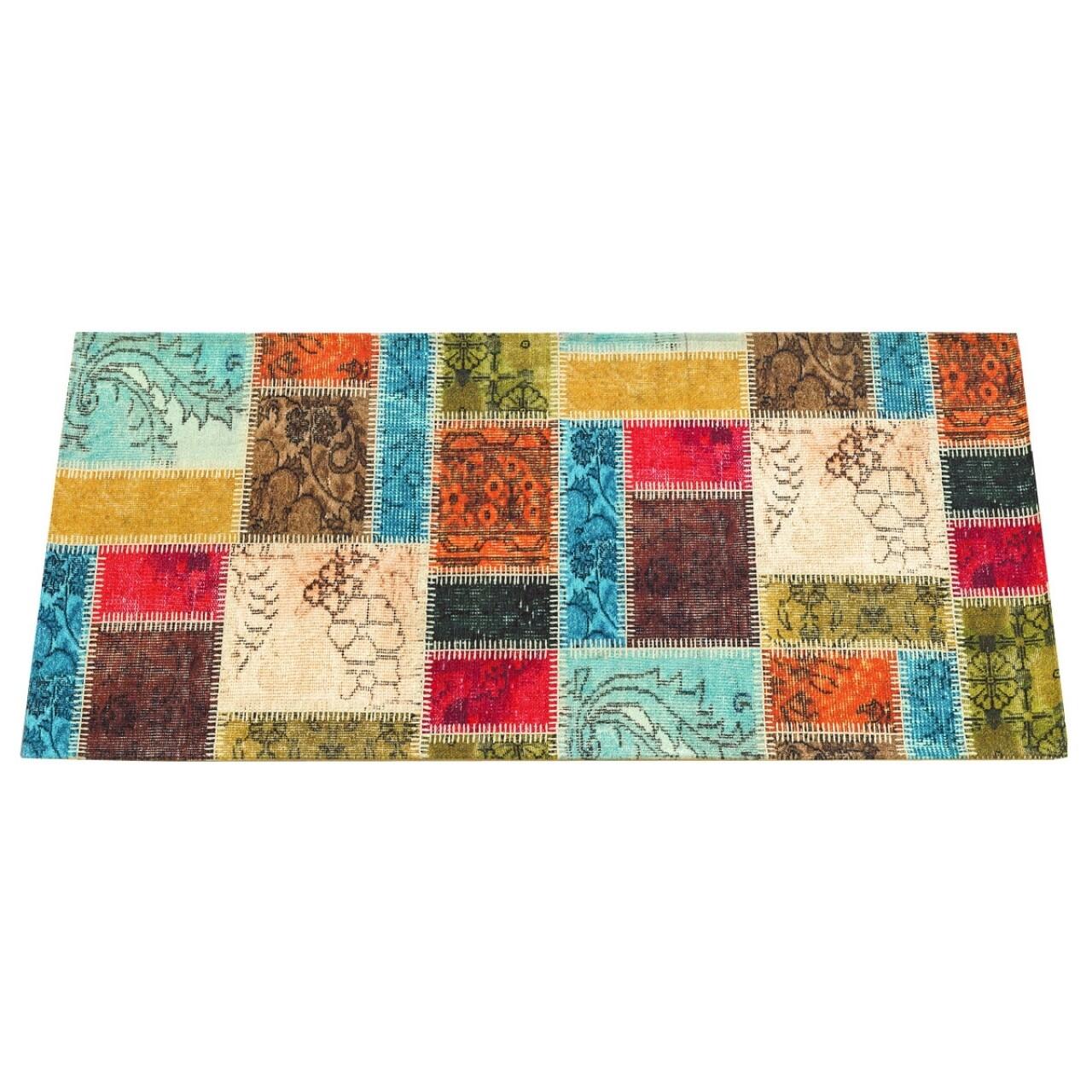 Covor rezistent Webtappeti Patchwork 60 x 240 cm, multicolor