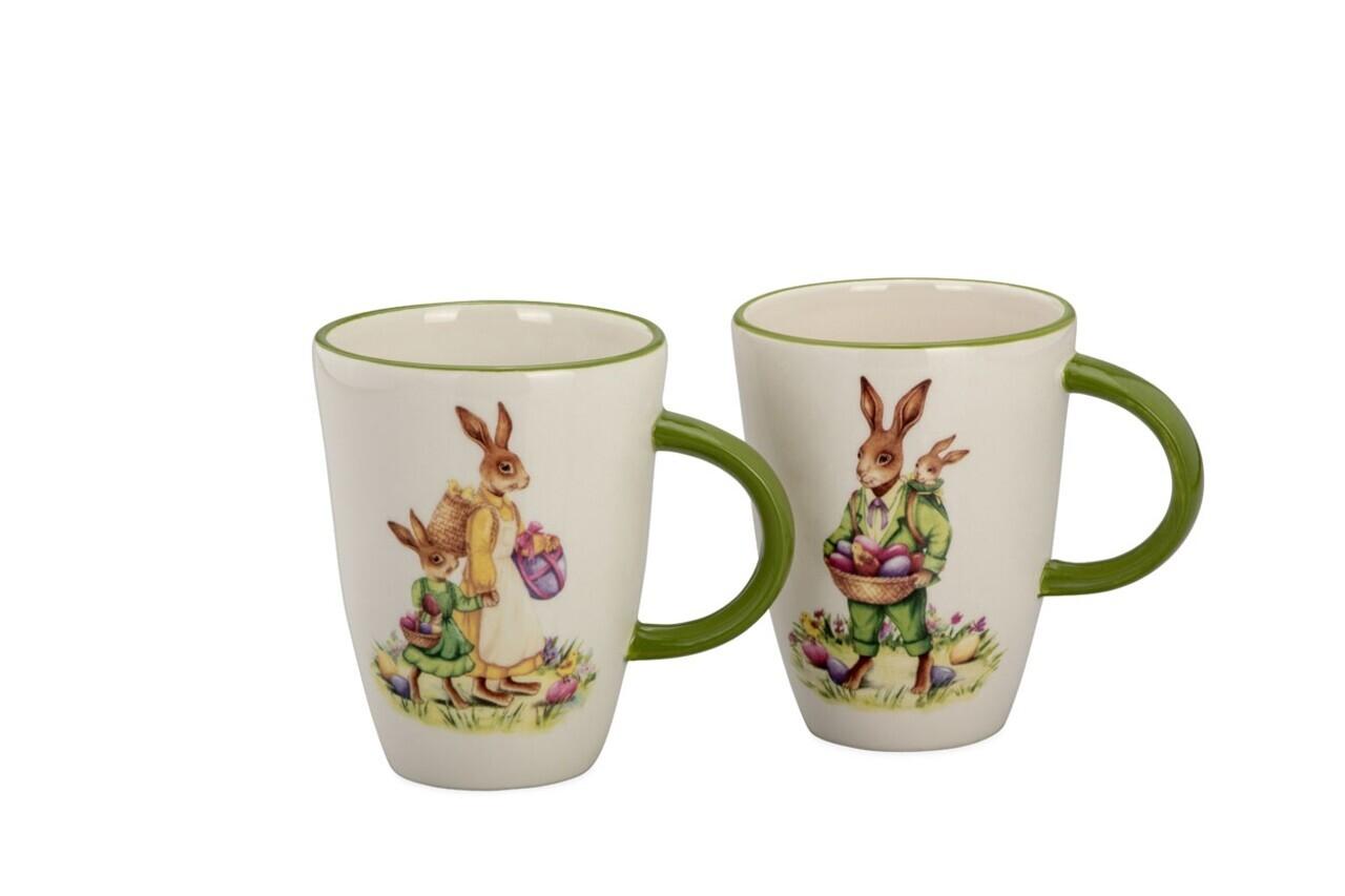 Set 2 cani Rabbit, Hermann Bauer, portelan, multicolor