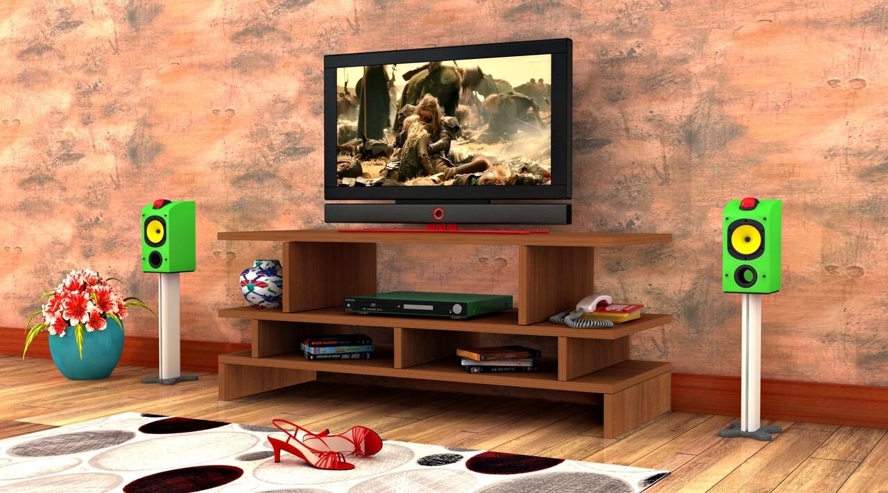 Comoda TV Raffline, 100x29.5x47.5 cm, PAL , maro