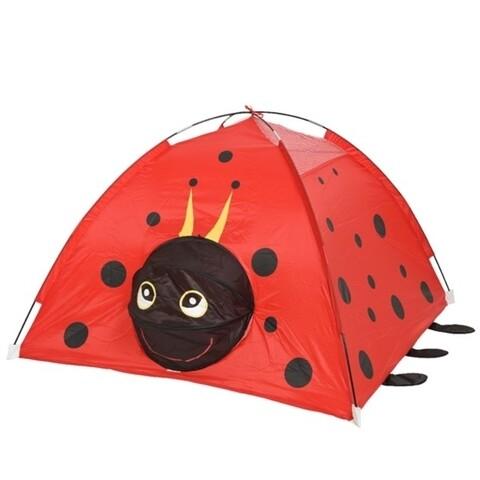 Cort de gradina pentru copii Ladybug, Decoris, 120x120x80 cm, poliester, rosu