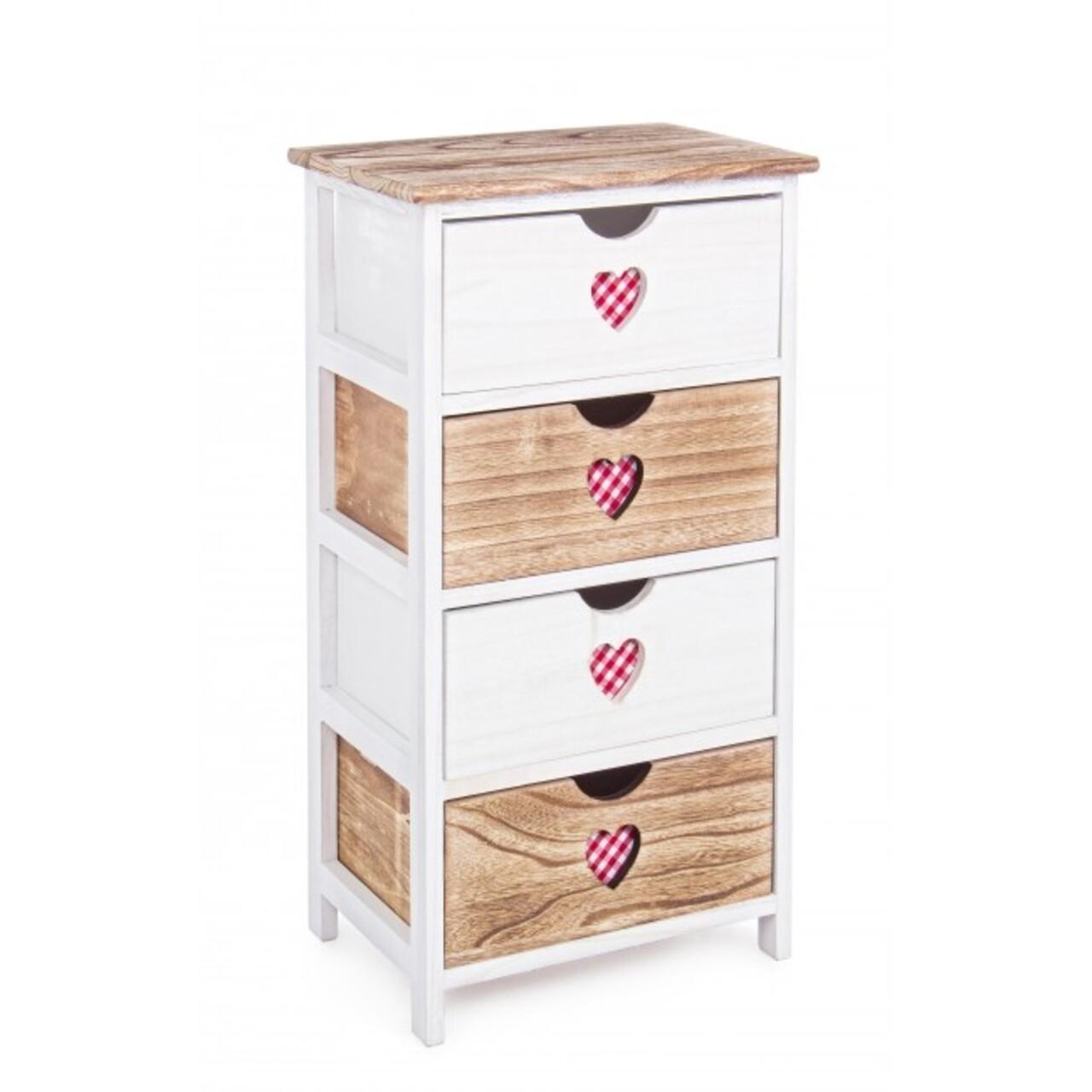 Comoda cu 4 sertare, Chalet, Bizzotto, 40x29x73 cm, lemn de paulownia