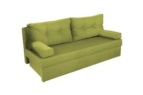 Canapea extensibila Alfi 192x80x77 cm cu lada de depozitare, Lime