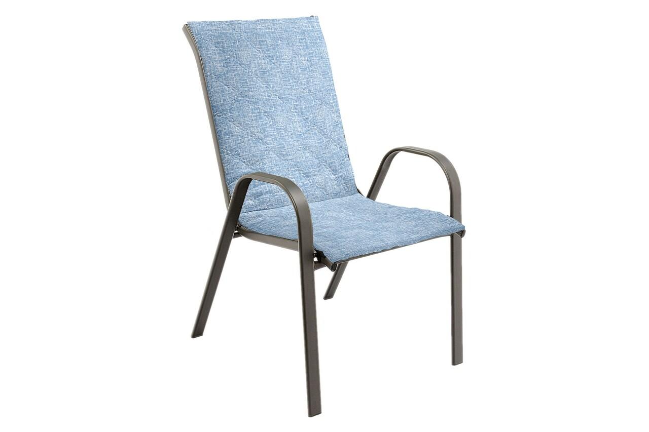 Perna scaun cu spatar Alcam, Midsummer, 105x48x3 cm, microfibra matlasta, Blue Jeans