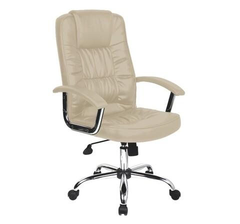 Scaun de birou ergonomic, Bedora  Abraj, piele ecologica, Bej
