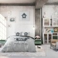 Lenjerie de pat dubla Home is with you Grey, Dreamhouse, 3 piese, 100% bumbac