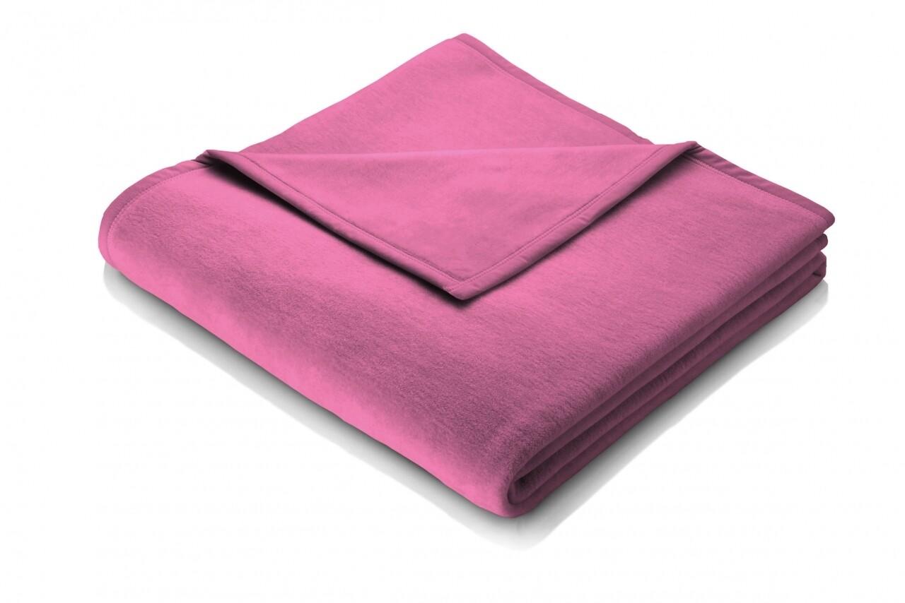 Patura Biederlack Softflor Pink, 150x200 cm, Roz