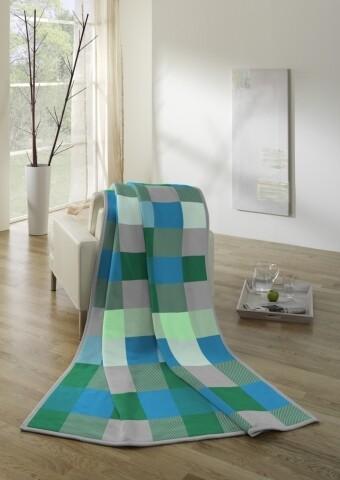 Patura Biederlack Softflor Patches, 150x200 cm, Multicolor