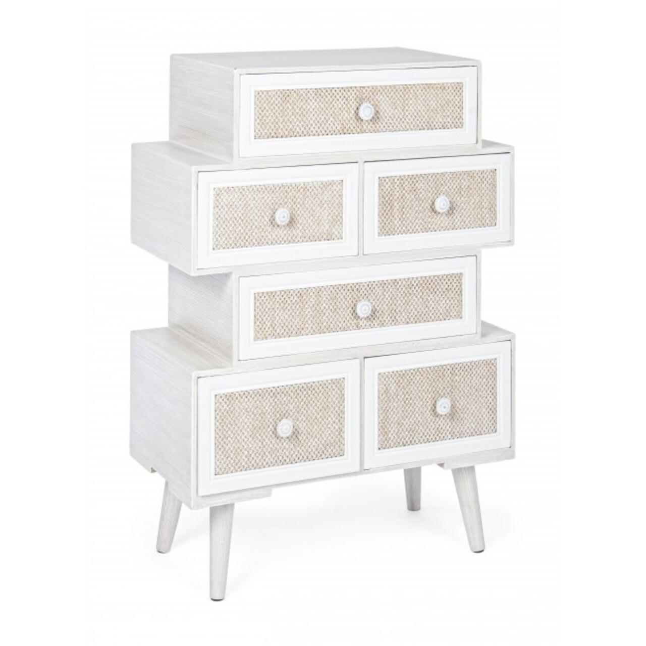 Comoda cu 5 sertare, Montiel, Bizzotto, 60x30x83 cm, lemn de pin