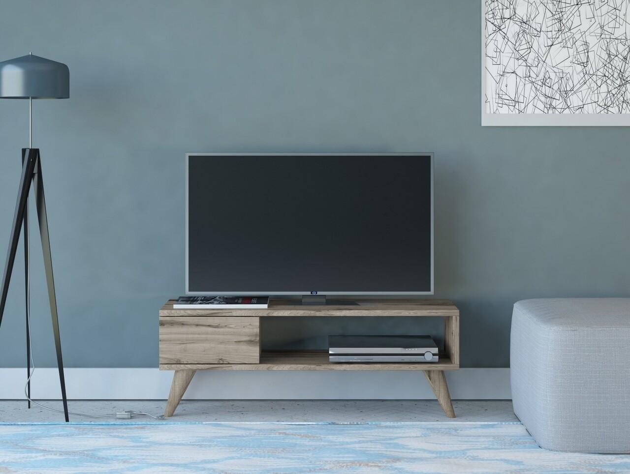 Comoda TV Maya, Maison in Design, 90 x 30 x 33 cm, PAL, natural