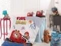 Lenjerie de pat pentru copii Fire Bear, Nazenin Home, 4 piese, 120 x 160 cm, 100% bumbac ranforce, multicolora