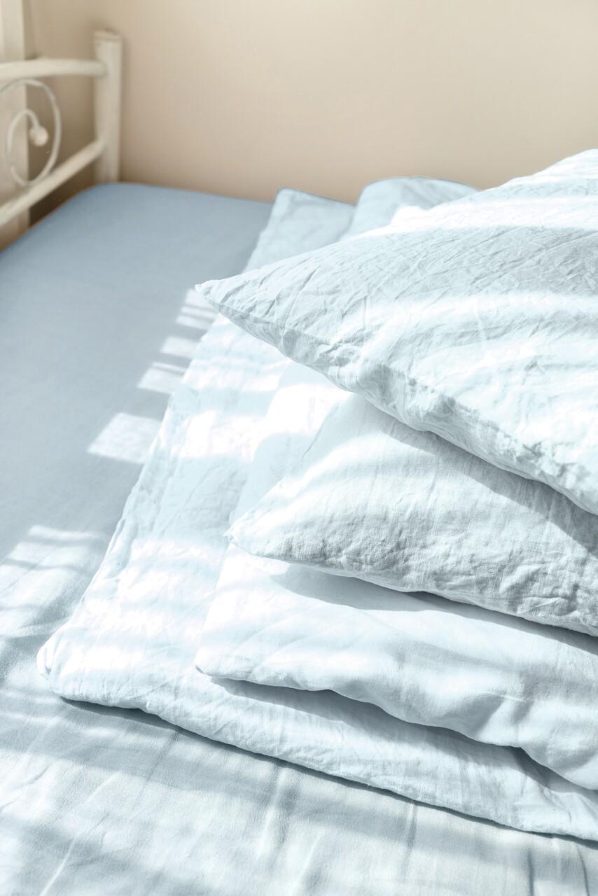 Set 2 fete de perna 40x40 cm, Bedora, 100% IN, Bleu