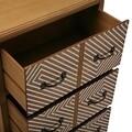 Comoda cu 6 sertare Severn, Versa, 59.5x35.5x94.5 cm, lemn