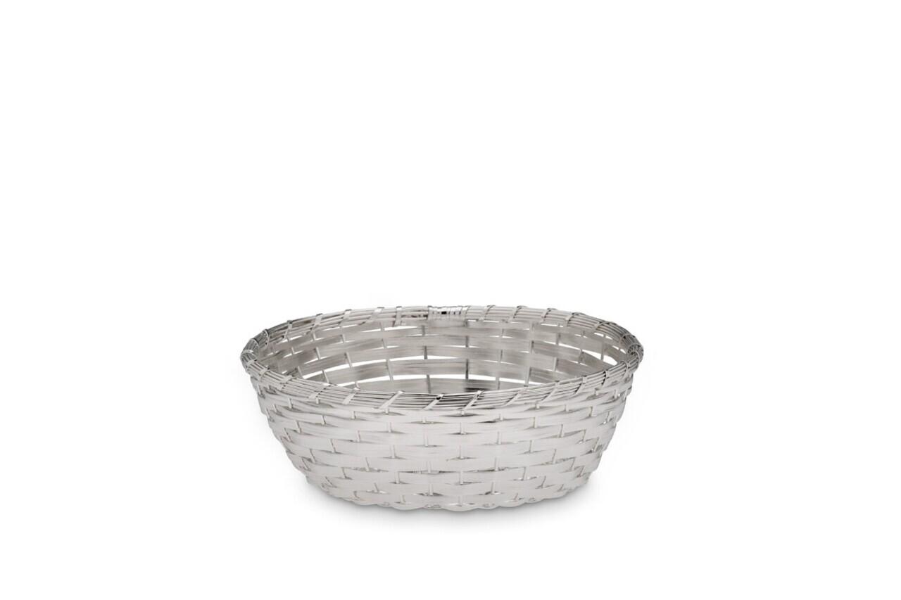 Cos pentru paine, Hermann Bauer, Ø19.5 cm, argintiu