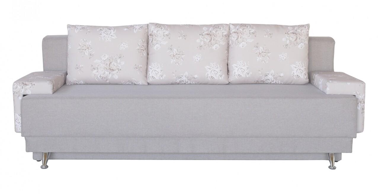 Canapea extensibilă Roma Beige Flower cu ladă de depozitare 205x90x86 cm