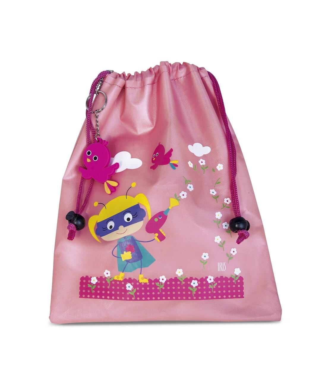 Geanta termoizolanta pentru pranz copii Mini SnackRico, Iris Barcelona, 17x4x21 cm, poliester, roz