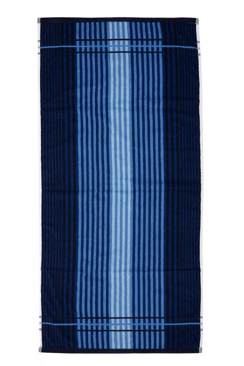 Prosop de plaja Lines, Heinner, 70 x 140 cm, 80% bumbac/ 20% poliester, albastru