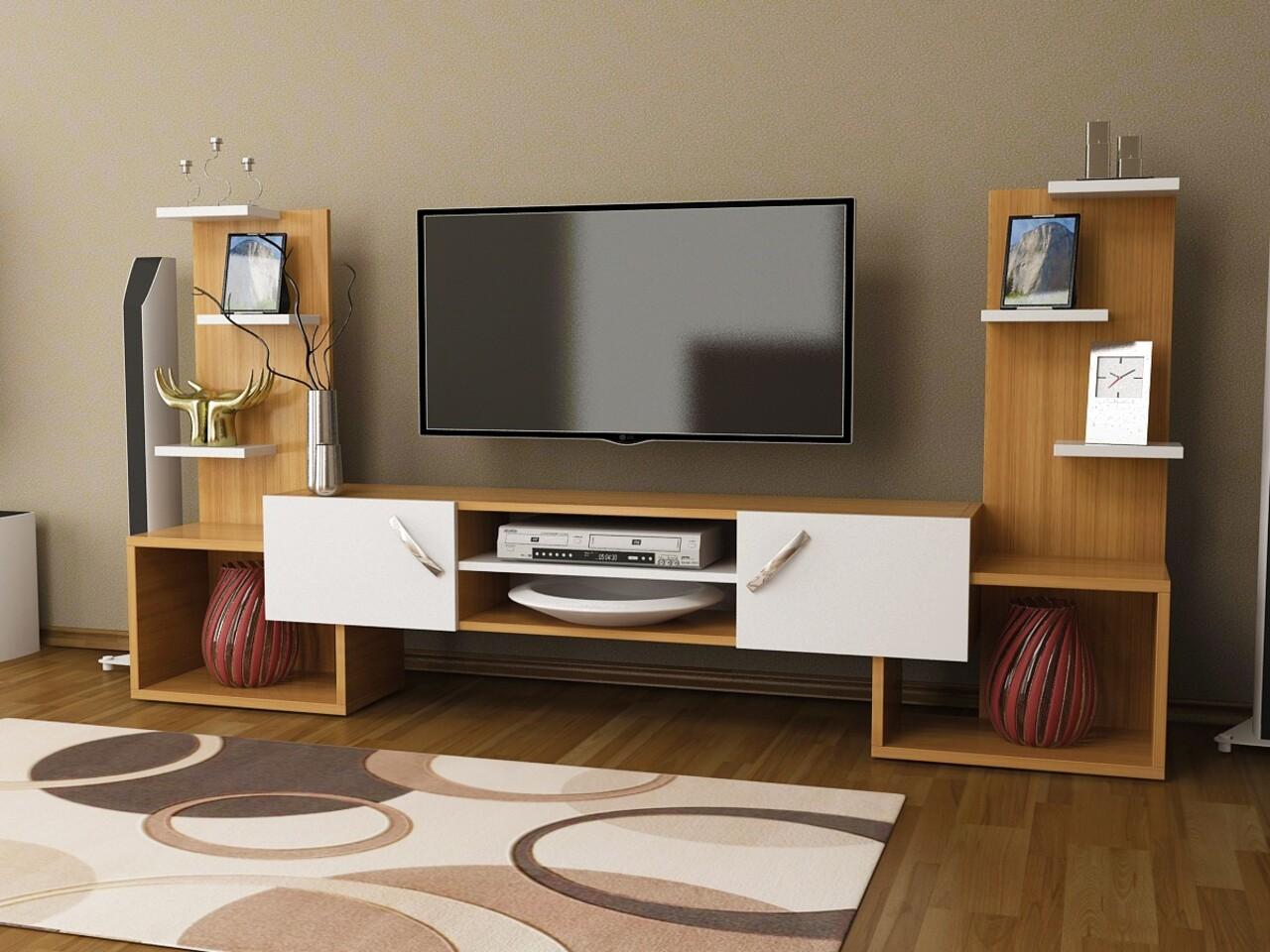 Comoda TV OCEANS, Gauge Concept, 182x33x90 cm, PAL, tec/alb