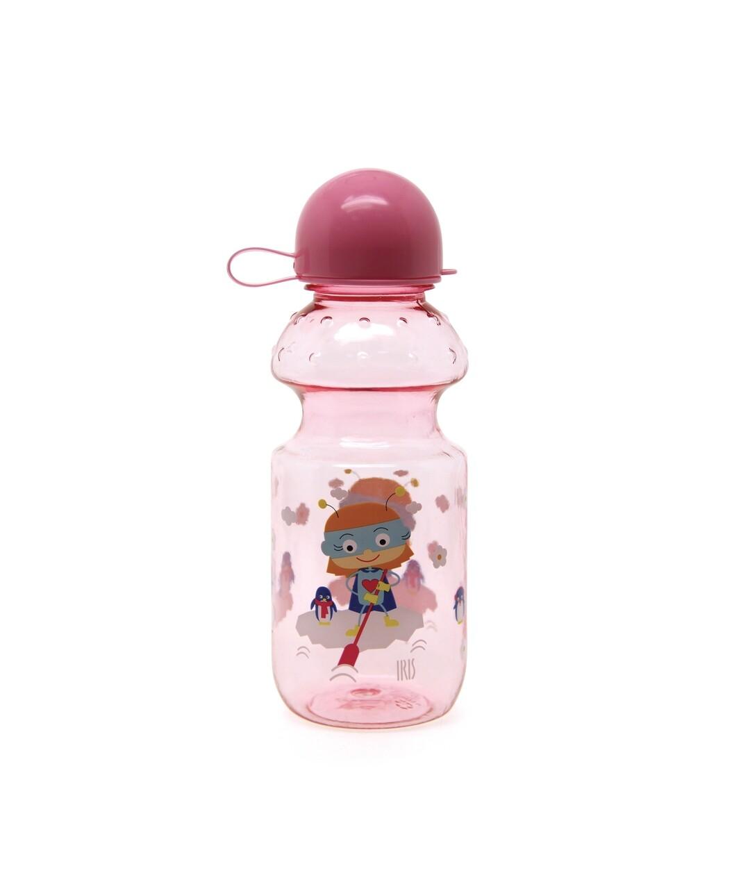 Sticla apa pentru copii, SnackRico Girl, Iris Barcelona, 350 ml,Tritan, roz