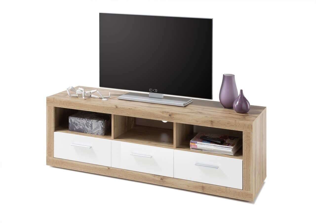 Comoda TV Ibiza, 147 x 49 x 45 cm, PAL, bej/alb