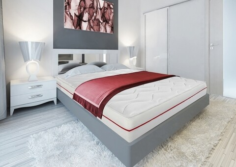 Saltea Super Ortopedica Red Line 80x200 cm 7 zone de confort, 14+2 Memory
