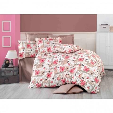 Lenjerie de pat pentru doua persoane, Rouge Rose  Bedora, 100%  bumbac