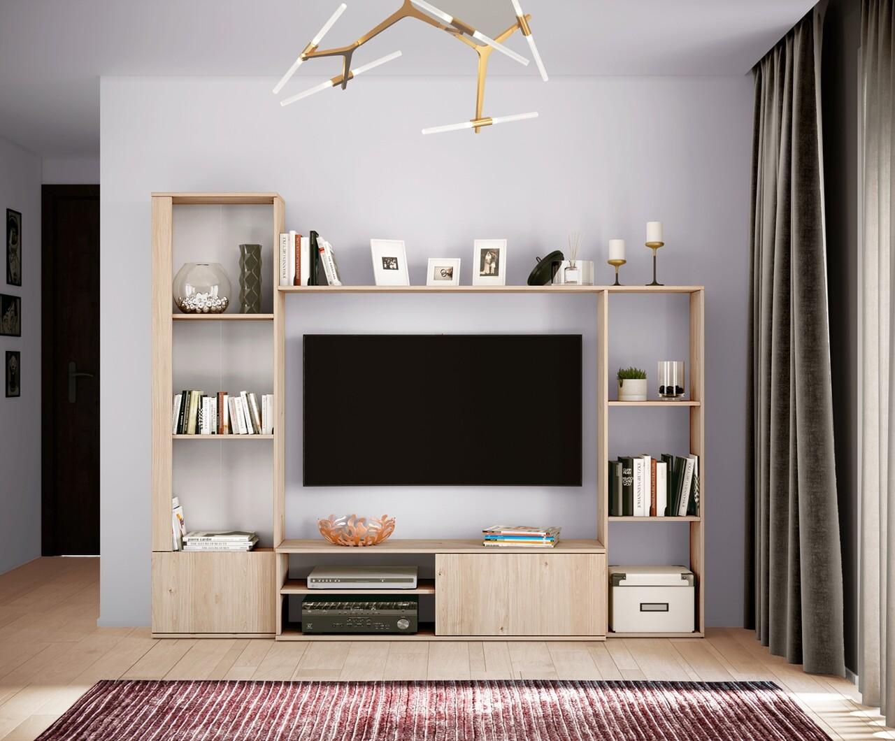 Mobilier living, Bedora, City 6038, 220 x 32.5 x 178 cm, PAL, bej