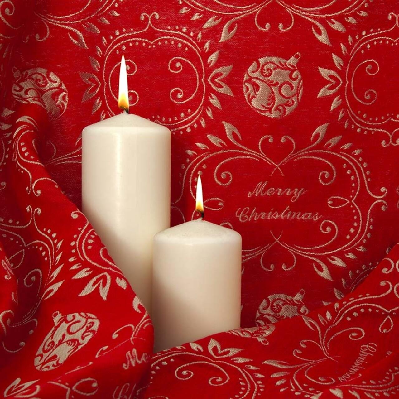 Fata de masa, Bedora Xmas Red, 160 x 320 cm, jacquard