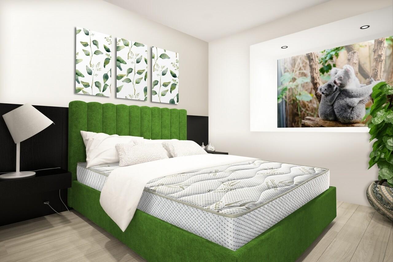 Saltea Eucalyptus Therapy Green Future, Memory, Husa cu uleiuri esentiale de Eucalypt, Super Ortopedica, 180x200 cm