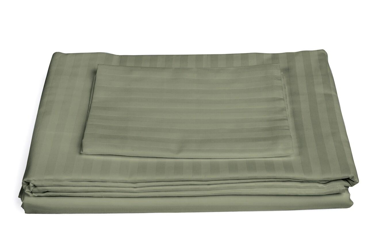 Lenjerie de pat, 2 persoane, 100% Bumbac egiptean, 4 piese, Kaki