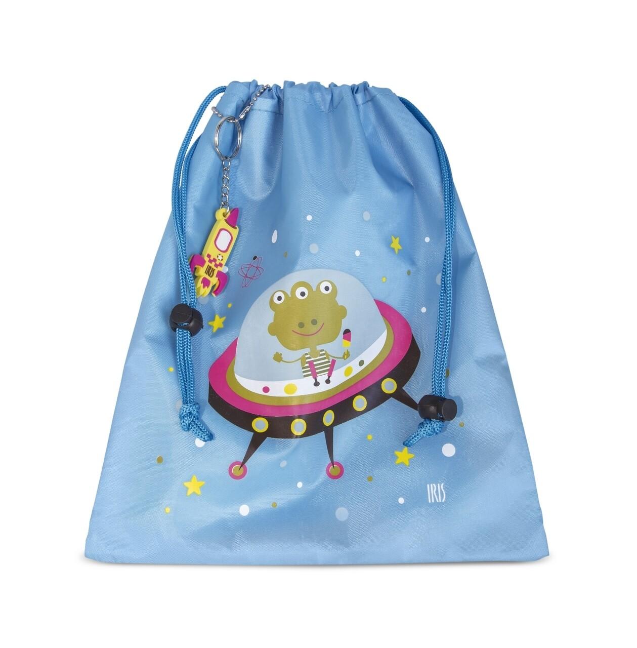 Geanta termoizolanta pentru pranz copii Mini SnackRico, Iris Barcelona, 17x4x21 cm, poliester, albastru