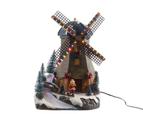 Decoratiune luminoasa Windmill, Lumineo, 31 LED-uri, 20x20x29 cm