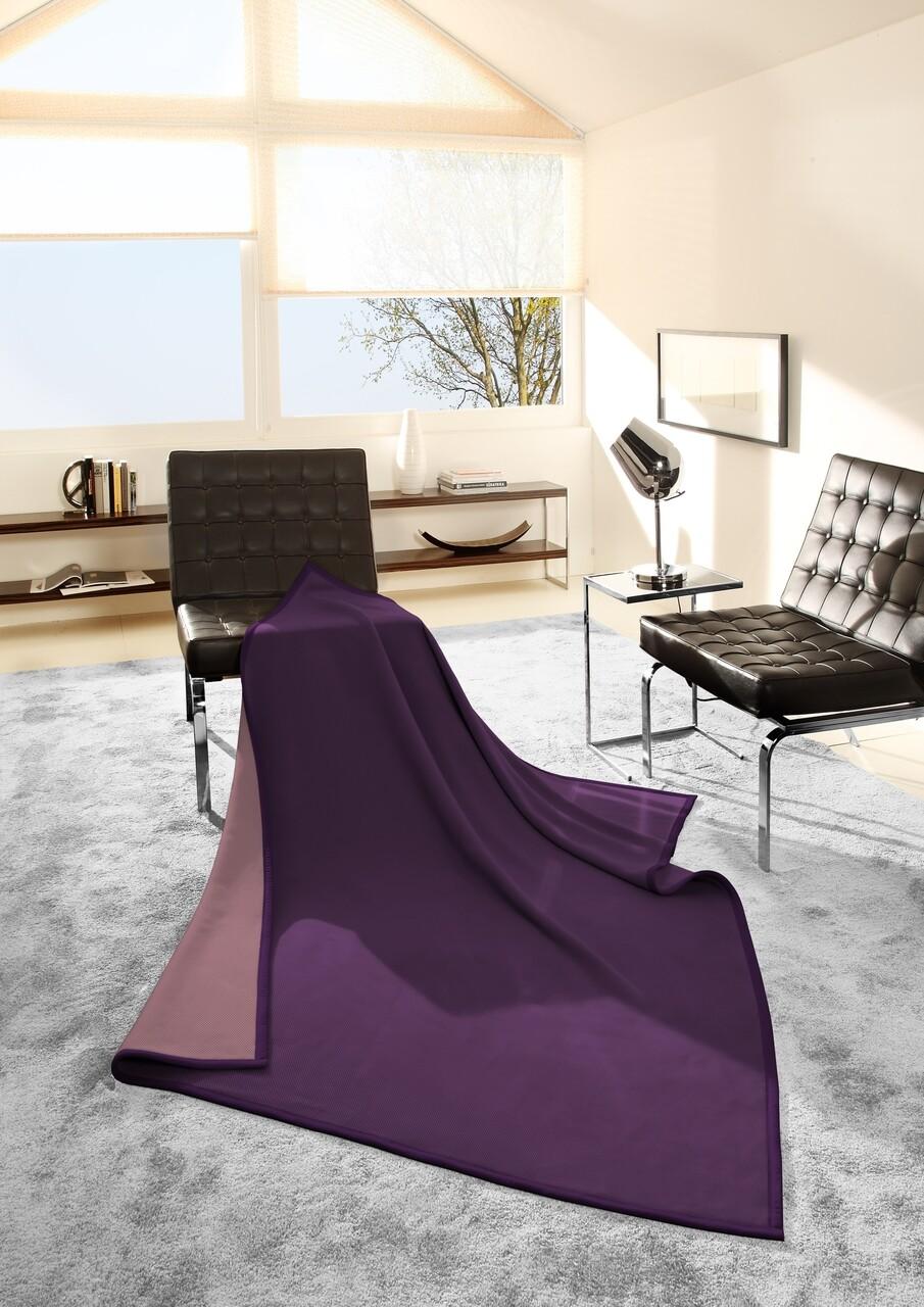 Patura Biederlack Selection S&P, 150x200 cm, Violet