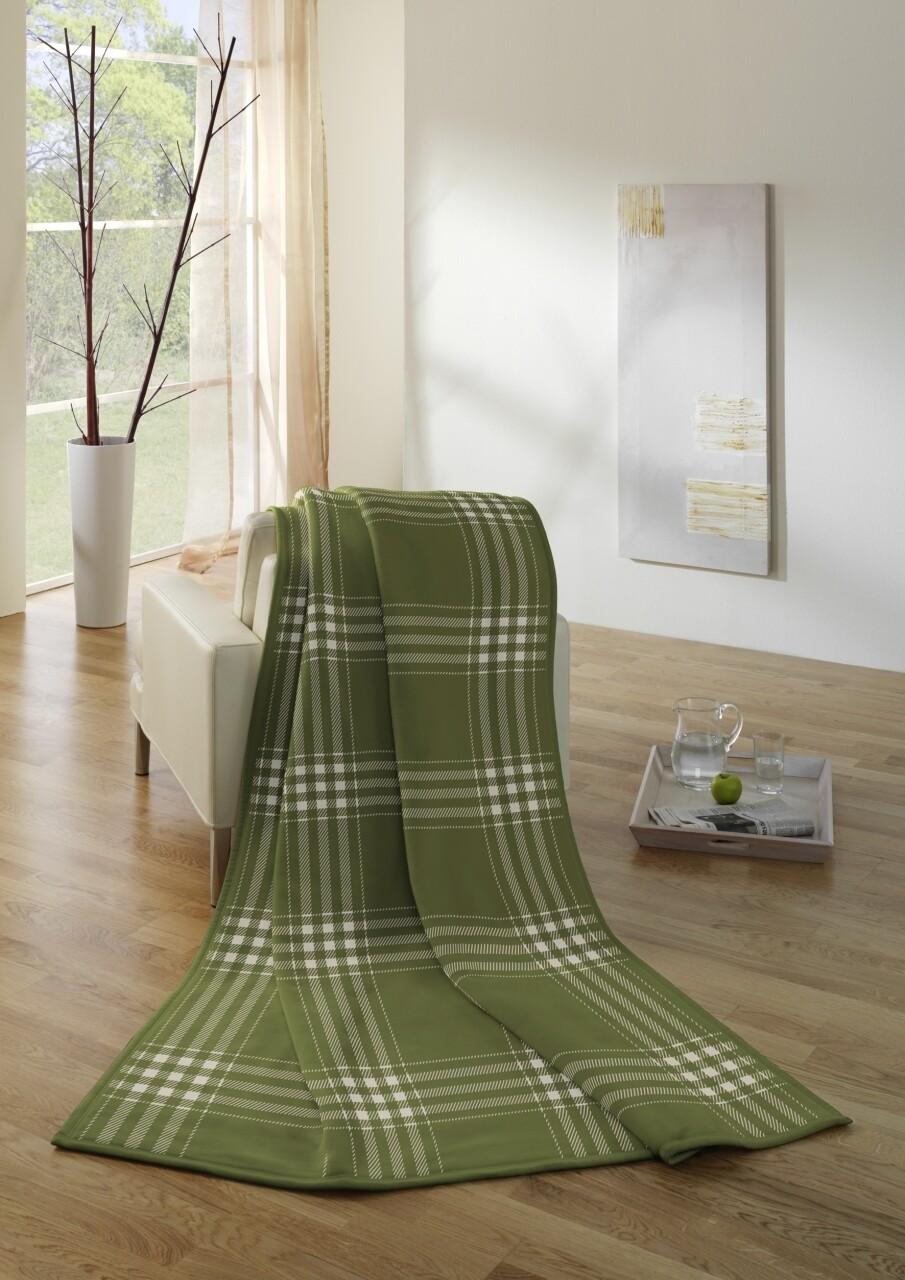 Patura Biederlack Allov. Ch., 150x200 cm, Verde
