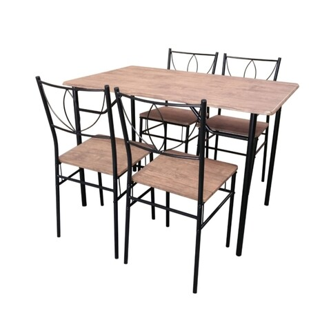 Set dining Bedora Noma, masa cu 4 scaune, Natur