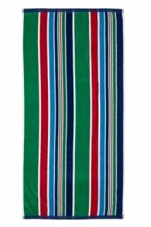 Prosop de plaja Stripe Blue, Heinner, 70 x 140 cm, 80% bumbac/ 20% poliester, multicolor