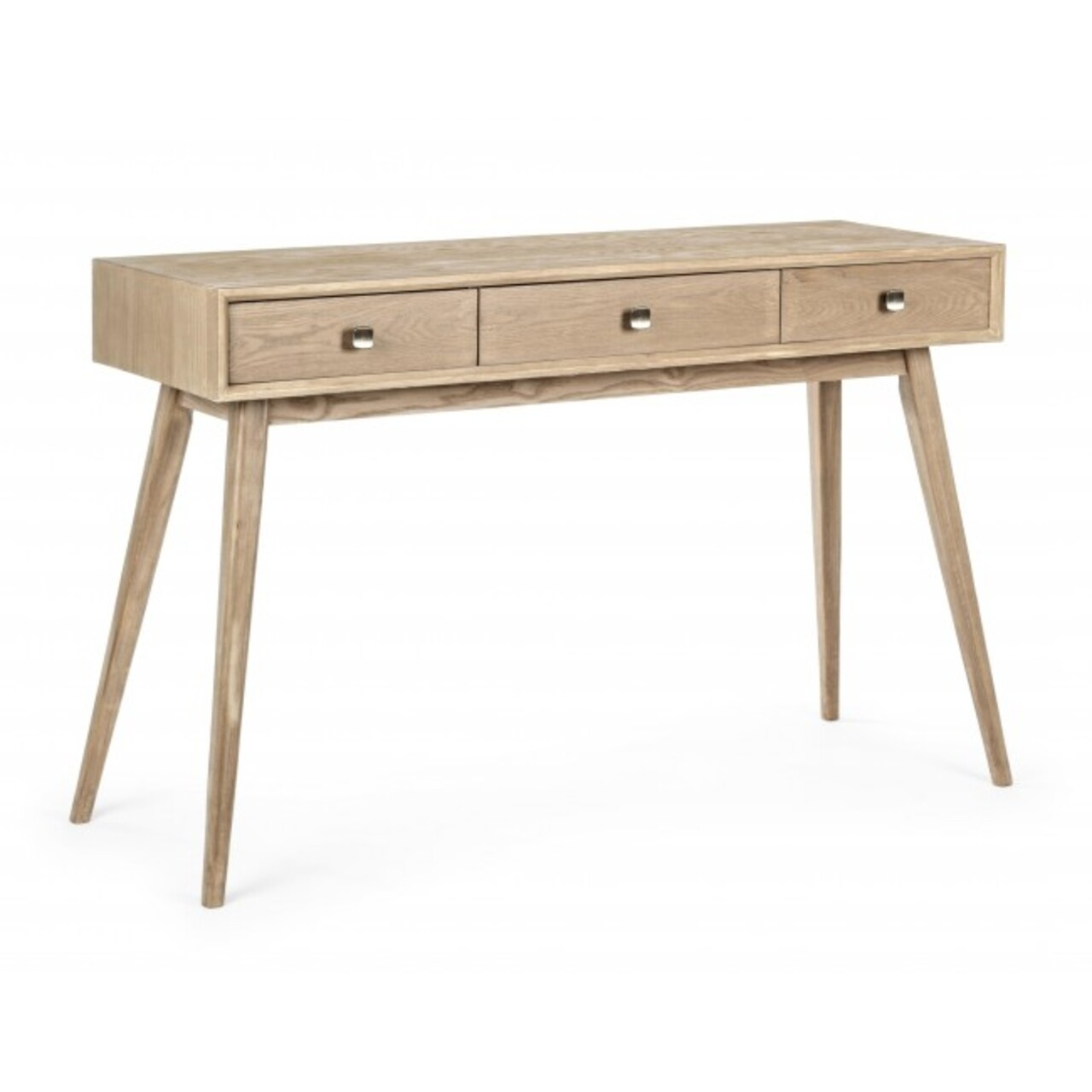 Consola cu 3 sertare, Alannis, Bizzotto, 120x40x78 cm, lemn de frasin