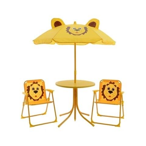 Set mobilier de gradina pentru copii Lion, Decoris, 4 piese, multicolor